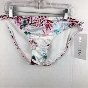 NEW Athleta Size Small Floral Bikini Bottoms